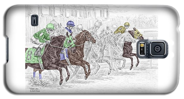 Odds Are - Tb Horse Racing Print Color Tinted Galaxy S5 Case
