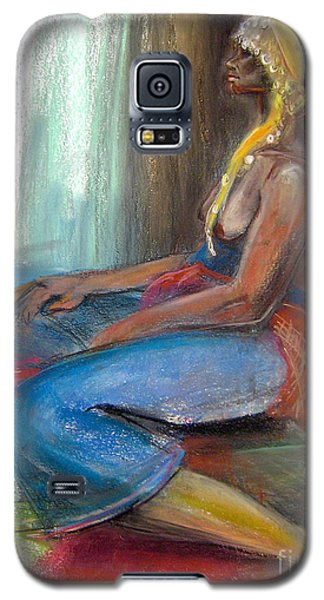 Galaxy S5 Case featuring the drawing Odelisque 2 by Gabrielle Wilson-Sealy