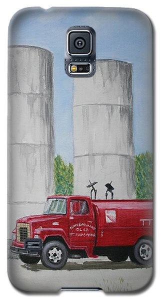 Galaxy S5 Case featuring the painting Oil Truck by Stacy C Bottoms