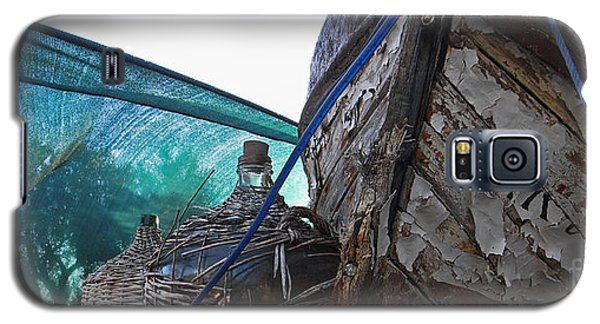 Old Boat And Flagons Galaxy S5 Case by Andy Prendy