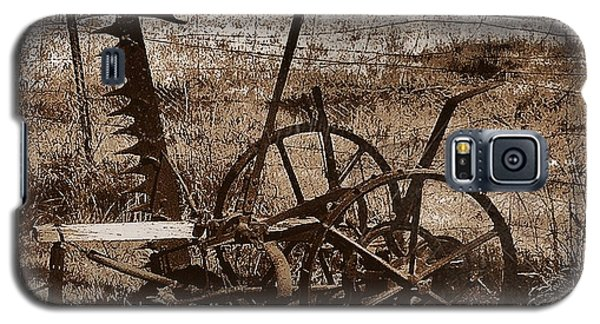 Galaxy S5 Case featuring the photograph Old Farm Equipment by Blair Stuart