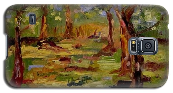Galaxy S5 Case featuring the painting Old Fort Park by Carol Berning