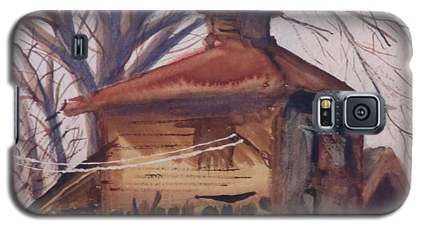 Galaxy S5 Case featuring the painting Old Garage by Rod Ismay