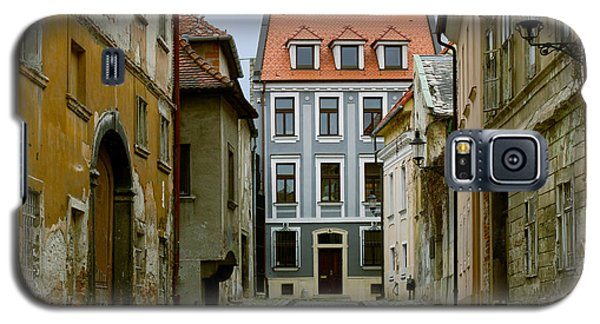 Galaxy S5 Case featuring the photograph Old Street In Bratislava by Les Palenik