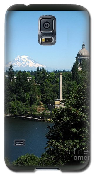 Olympia Wa Capitol And Mt Rainier Galaxy S5 Case