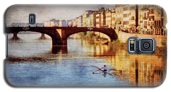 Galaxy S5 Case featuring the photograph On The Arno River by Deborah Smith