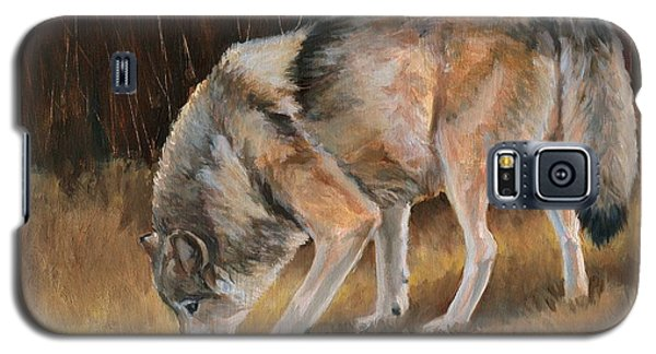 Galaxy S5 Case featuring the painting On The Trail - Wolf by Sheri Gordon