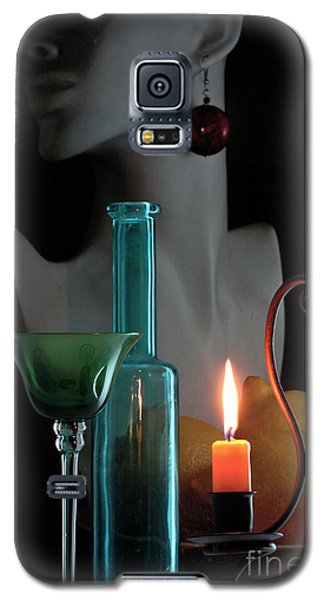 Galaxy S5 Case featuring the photograph Orange Candle by Elf Evans