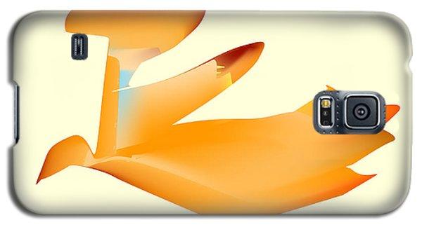 Orange Jetpack Penguin Galaxy S5 Case