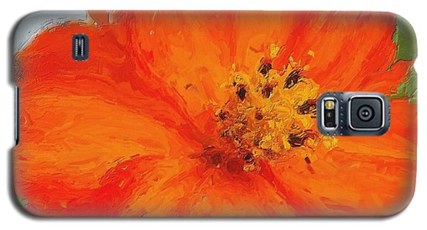 Galaxy S5 Case featuring the painting Orange by Michelle Joseph-Long