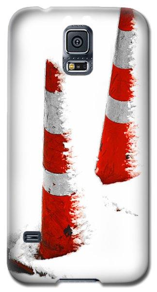 Galaxy S5 Case featuring the digital art Orange Snow Cones by Steve Taylor