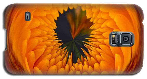 Orange Zinnia Orb Galaxy S5 Case