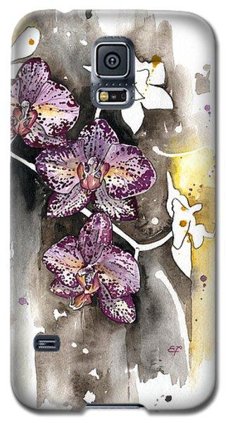 Galaxy S5 Case featuring the painting Orchid 13 Elena Yakubovich by Elena Yakubovich