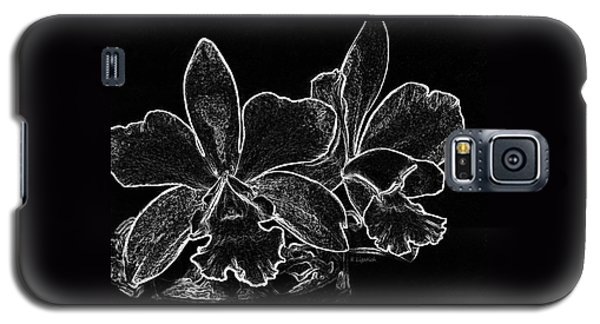 Orchids - Black And White Abstract Galaxy S5 Case