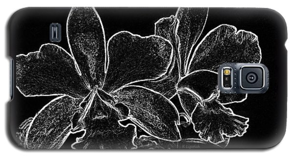 Orchids - Black And White Abstract Galaxy S5 Case by Kerri Ligatich