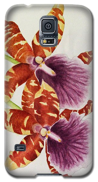 Orchids - Tiger Stripes  Galaxy S5 Case by Kerri Ligatich