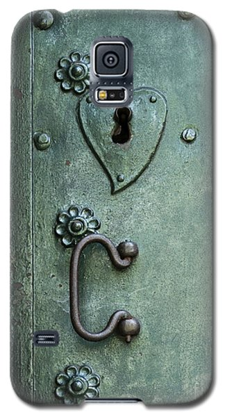 Galaxy S5 Case featuring the photograph Ornamental Metal Doors In Teal by Agnieszka Kubica