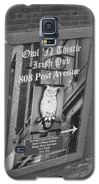 Owl And Thistle Irish Pub Galaxy S5 Case by Kym Backland