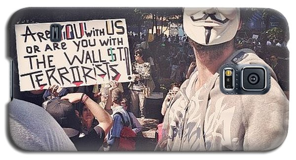 Place Galaxy S5 Case - Ows Occupy Wall Street by Randy Lemoine