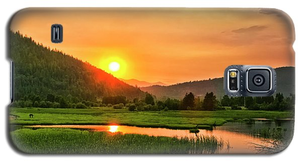 Galaxy S5 Case featuring the photograph Pack River Delta Sunset by Albert Seger