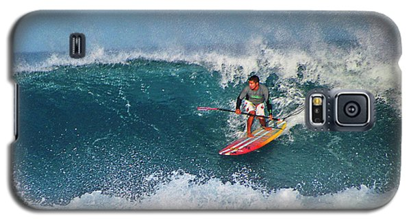 Paddleboarder Rides The Break Galaxy S5 Case