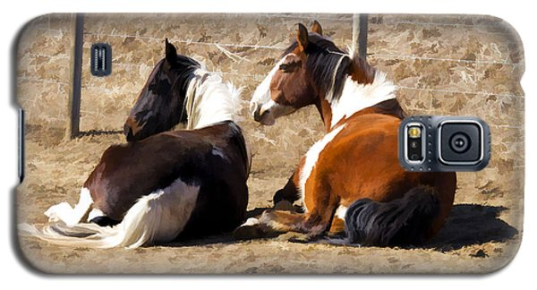 Painted Horses I Galaxy S5 Case by Angelique Olin