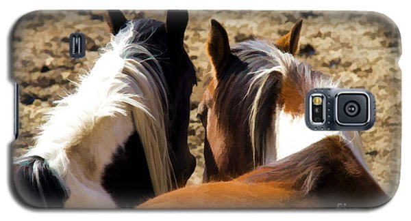 Painted Horses IIi Galaxy S5 Case by Angelique Olin