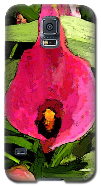Galaxy S5 Case featuring the photograph Painted Pink Cala Lily by Debbie Portwood
