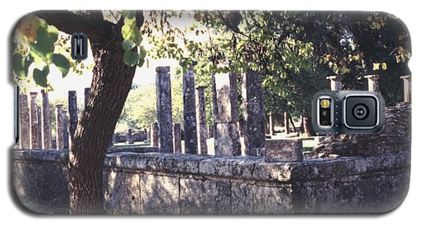 Galaxy S5 Case featuring the photograph Palestra Olympic Site Greece by Tom Wurl