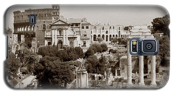 Galaxy S5 Case featuring the photograph Panoramic View Via Sacra Rome by Tom Wurl