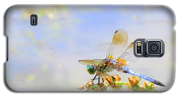 Galaxy S5 Case featuring the photograph Pastel Dragonfly by Deborah Smith