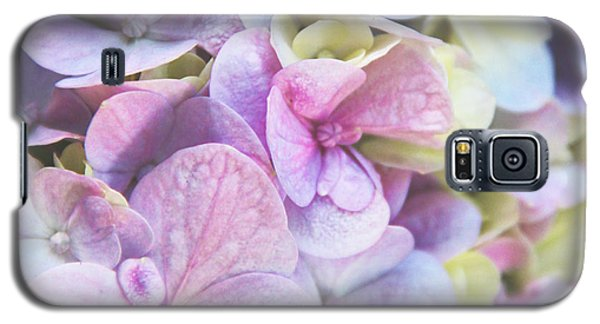 Galaxy S5 Case featuring the photograph Pastel Hydrangeas - Square by Kerri Ligatich