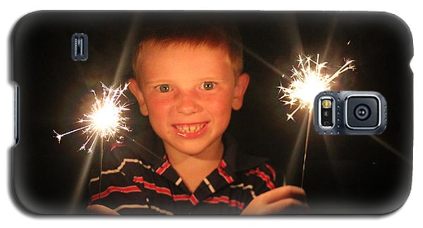 Galaxy S5 Case featuring the photograph Patriotic Boy by Kelly Hazel