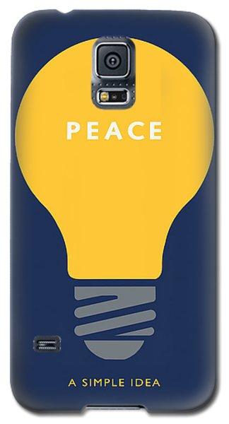 Galaxy S5 Case featuring the digital art Peace A Simple Idea by David Klaboe