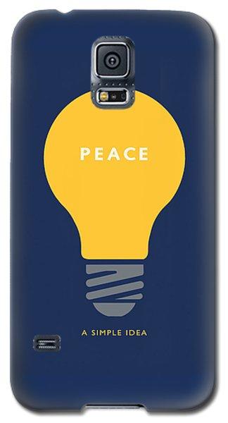 Peace A Simple Idea Galaxy S5 Case by David Klaboe
