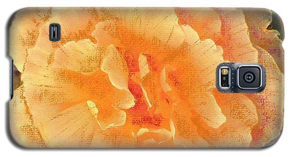 Galaxy S5 Case featuring the painting Peach Begonia by Richard James Digance