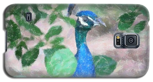 Galaxy S5 Case featuring the photograph Peacock by Donna  Smith