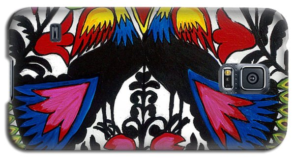 Peacock Tree Polish Folk Art Galaxy S5 Case by Ania M Milo