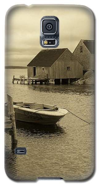 Peggys Cove In Sepia Galaxy S5 Case by Richard Bryce and Family