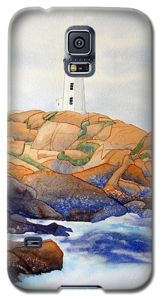 Galaxy S5 Case featuring the painting Peggy's Cove by Laurel Best
