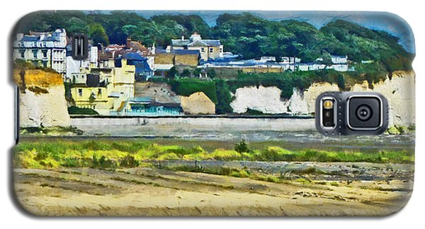 Galaxy S5 Case featuring the digital art Pegwell Bay by Steve Taylor