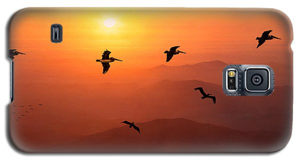 Galaxy S5 Case featuring the photograph Pelican Migration by Chris Lord