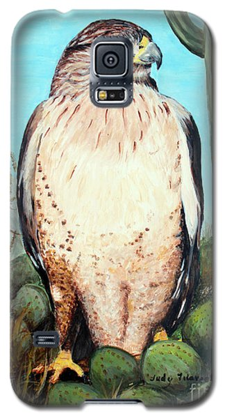 Galaxy S5 Case featuring the painting Peregrine Falcon Birds Of Prey by Judy Filarecki