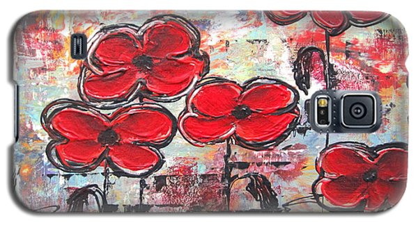 Perfect Poppies Galaxy S5 Case by Kathy Sheeran