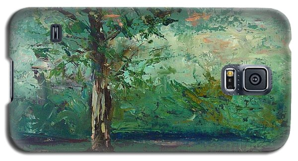 Galaxy S5 Case featuring the painting Persimmon In Plein Air by Carol Berning