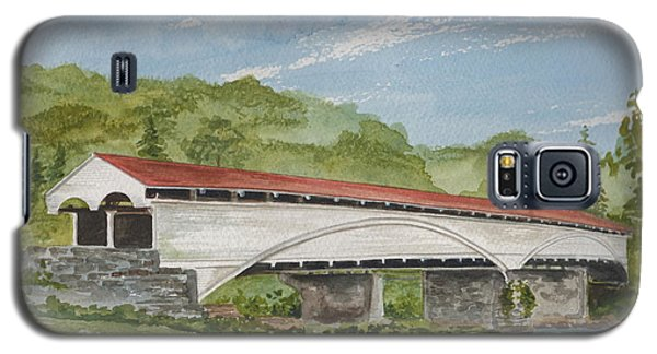 Philippi Covered Bridge  Galaxy S5 Case by Nancy Patterson