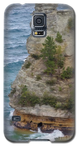 Galaxy S5 Case featuring the photograph Pictured Rocks In Oil by Deniece Platt