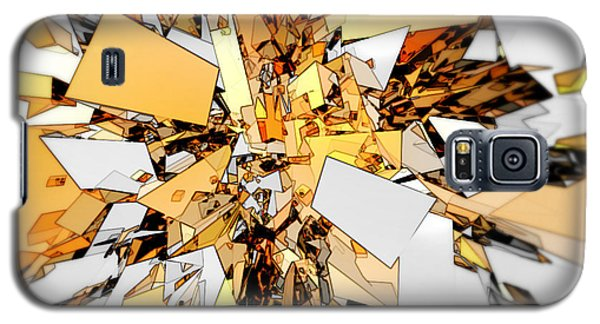 Galaxy S5 Case featuring the digital art Pieces Of Gold by Phil Perkins