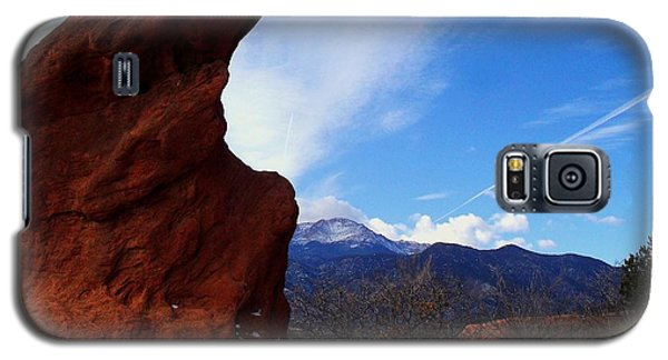 Jut Rock Over Pikes Peak Galaxy S5 Case by Clarice  Lakota