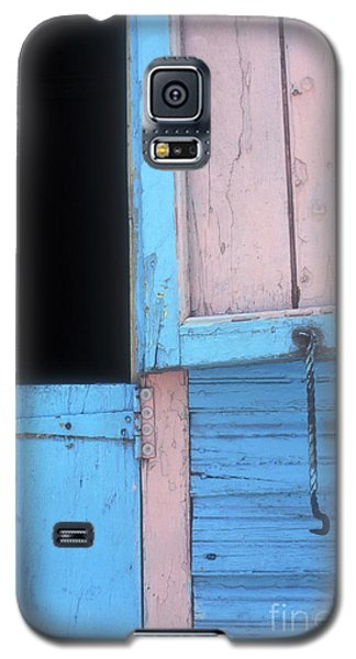 Galaxy S5 Case featuring the photograph Pink And Blue Shutters Barahona Dominican Republic by John  Mitchell